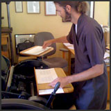 Printing the Book on the Chandler & Price Platen Press.